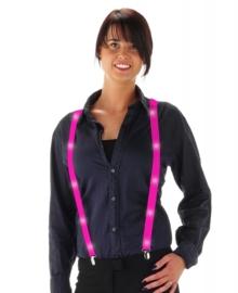 Neon pink bretels met led