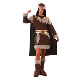 Viking kostuum deluxe dame