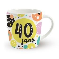 Verjaardags mok - 40 jaar | koffie beker