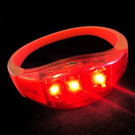 LED armband rood sound activate