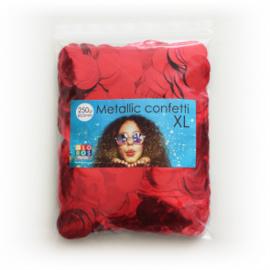 Confetti metallic rond 23mm 250 gram rood