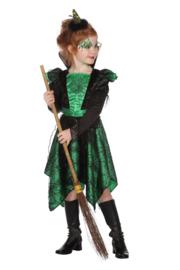 Heksen jurkje green spider print