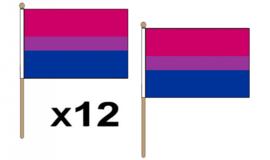Be-pride handvlaggetjes 12 stuks