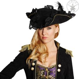 Edel piratenhoed | zwart
