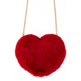 Tas pluche hart rood