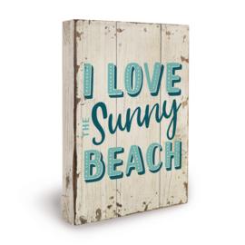 Houten beach bord sunny beach