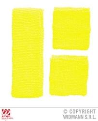 Zweetbandjes neon geel
