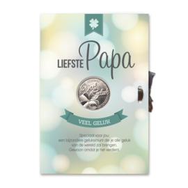 Kaart geluksmunt Liefste Papa