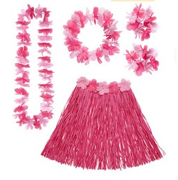 Hawaii set roze