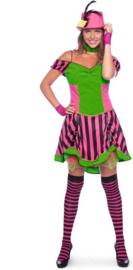 Steampunk jurkje neon sexy