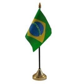 Tafelvlag Brazilie zwart