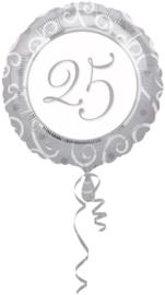 25 jaar folieballon excl.