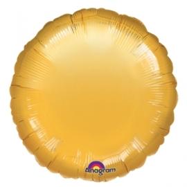 Folieballon rond goud excl.