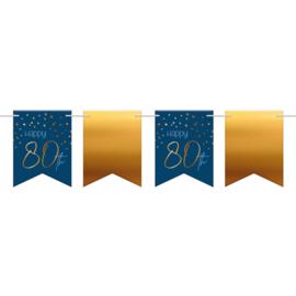 Vlaggenlijn Elegance true blue 80 jaar