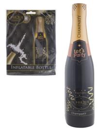 Fles champagne opblaasbaar