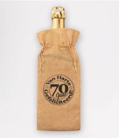 Bottle gift bag - 70 jaar