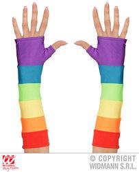 Handschoenen lang regenboog