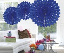 Honeycomb fan blauw