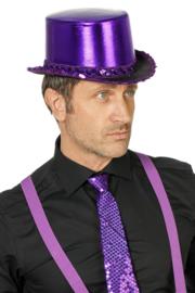 Hoge hoed paars luxe