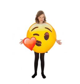 Kinder Emoji hart kus kostuum