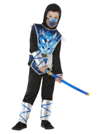 Ninja warrior kostuum blauw