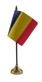 Tafelvlag Roemenie zwart