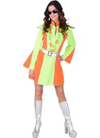 Disco fluor jurk