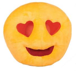 Plushe emoji masker hartjes