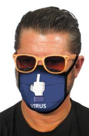 Mondkapje met fuck virus print