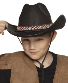 Kinder cowboy hoed zwart