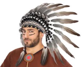 Indianen tooi deluxe | grijs wit