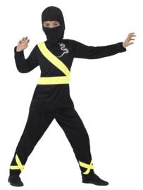 Ninja assassin kostuum zwart