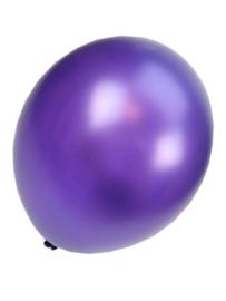 Kwaliteitsballon metallic paars 100 stuks
