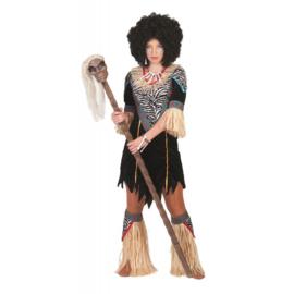 Afrikaanse medicijnvrouw jurkje