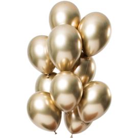 Ballonnen spiegel effect goud 10 stuks