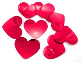 Tafelconfetti XL rood hartjes