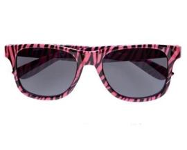 Zebra bril pink