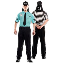 Kostuum double fun politie boef