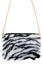 Schouder tasje pluche zebra