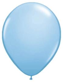Kwaliteitsballon metallic lichtblauw 10 stuks