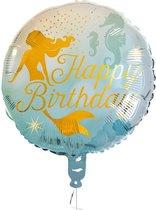 Folieballon Zeemeermin 'Happy Birthday'