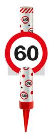 IJsfontein 60 jaar verkeersbord