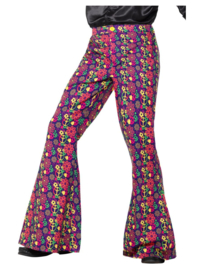 60's psychedelic CND flared trousers