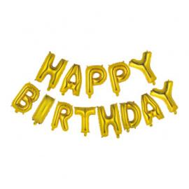 """happy birthday 16"""" gold"""