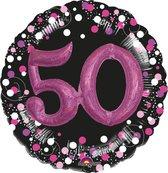 Folieballon sparkling pink 3D 50 (81cm)