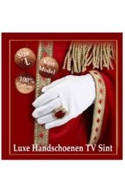 Handschoenen Luxe  wit (TV Sint)