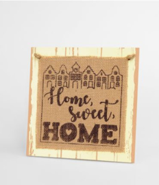 Wooden sign - Home sweet home |
