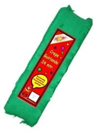 Crepe guirlande - slingers -- groen