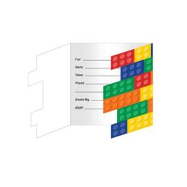 Bricks uitnodigingen 8 stuks