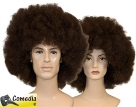 Theaterpruik Afro bruin